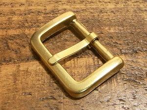 バックル 真鍮 無垢 ブラス 24mm レザー ベルト 革 2.4cm 美錠 尾錠 ロ型 カスタム レザークラフトに 101