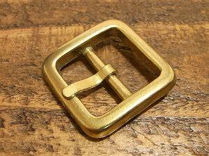 バックル 真鍮 無垢 ブラス 21mm レザー ベルト 革 2.1cm 美錠 尾錠 日型 カスタム レザークラフトに 102