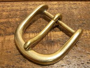 バックル 真鍮 無垢 ブラス 30mm レザー ベルト 革 3cm 美錠 尾錠 口型 カスタム レザークラフトに 103