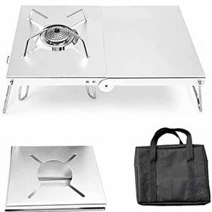 セール!送料込!遮熱テーブル シングルバーナー用 アルミ アシスト コンパクト キャリーバッグ付き SOTO ST-310他 新品