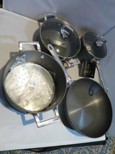 東京 アルミ シェフ 7点セット 両手鍋 フライパン 蒸し器 片手鍋 未使用品 送料無料