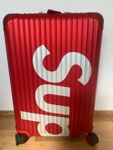 正規品 高価な大きいサイズの方です  Supreme RIMOWA Topas Multiwheel 82L Red 赤 シュプリーム×リモワの限定スーツケース