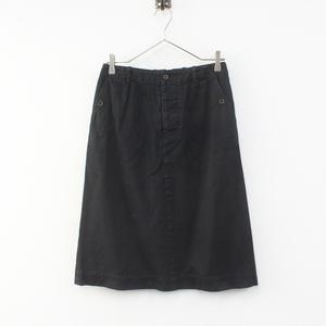 MHL エムエイチエル MARGARET HOWELL マーガレットハウエル コットン台形スカート 2/ブラック ボトムス【2400012280670】