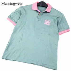 Munsingwear grandslam マンシングウェア 春夏 ロゴ刺繍★ 半袖 ゴルフ ポロシャツ Sz.L メンズ 日本製 G1T00920_5#A
