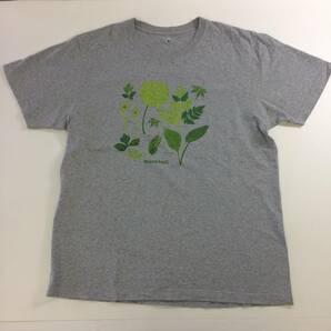 モンベル Tシャツ Lサイズ グレー 山菜柄