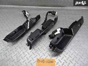保証付 三菱純正 CU2W エアトレック ターボR パワーウインドウスイッチ PWスイッチ カーボン調パネル 3点セット 運転席欠品 棚2R12