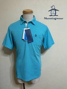 【新品】 Munsingwear golf マンシングウェア ゴルフ ウェア ドライポロシャツ トップス MOTION3D サイズLL 半袖 水色 デサント JWMJ204