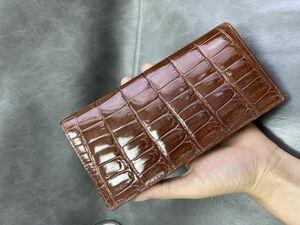 新品 無双 手帳型クロコダイル ワニ革保証 レザー   長財布 セカンドバッグ カードケース 名刺入れ 男女兼用 プレゼント メンズ