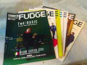 men's FUDGE メンズ・ファッジ ファッション雑誌 7冊まとめて Vol 99,100,102,103,104,107,112 管理番号101249