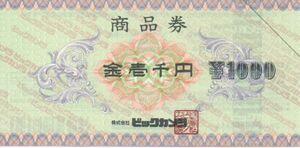 日本BS放送 株主優待券 ビックカメラ商品券 1000円分 コジマ ソフマップなど 有効期限なし、おつりあり、ポイントサービスあり