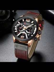 CURREN 腕時計 メンズ ウォッチ 多機能防水 夜光 耐衝撃 日付 クロノグラフ クォーツ式 本革バンド