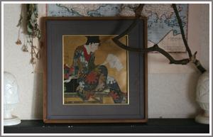 【アンティーク】とても古いフレーム 額縁 木製 ビンテージ レトロ 古道具 アトリエ 什器 シンプル ウッド フレーム 絵画 ディスプレイ