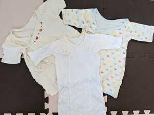送料無料 長肌着 新生児肌着 新生児用品 インナーウェア ベビー服 3着まとめて まとめ買い yuzu10sogo03