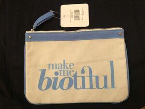 化粧ポーチ キャンバス地 オーガニックコットン使用 エコバッグ my biotiful bag
