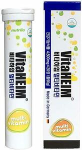 新品 韓国ドラマ! 1日1回発泡ビタミン!フォームビタミン Vita HEIM オレンジ味 X1本 マルチビタミン ドイツ製 ニュートリHEIM ビタミン剤