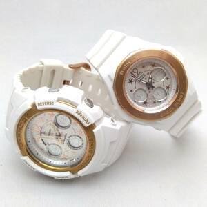 箱 取説 付 CASIO カシオ G-SHOCK Baby-G ラバーズコレクション 2009 LOV-09A-7BJR AW-590L BGA-104L クォーツ 腕時計 店舗受取可