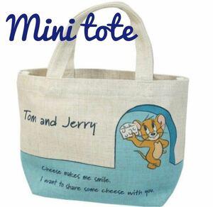 トムとジェリー マチ付 ランチバッグ エコバッグ レディース お弁当 コットンバッグ ミニ トートバッグ チーズジェリー