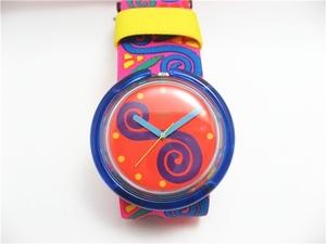 ◇SWATCH POP スウォッチ オレンジ/腕時計/電池交換済み