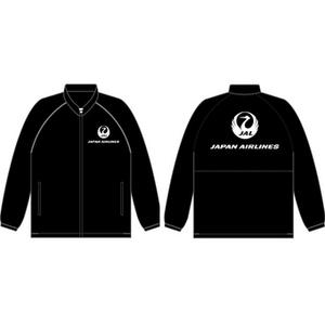 即決♪限定♪新品未使用♪JAL 日本航空 JALオリジナル ロゴ入り ウィンドブレーカー ブラック LLサイズ アメニティグッズ