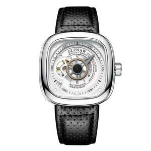 【新品】GLENAW メンズ 腕時計 機械式自動巻き ホワイト
