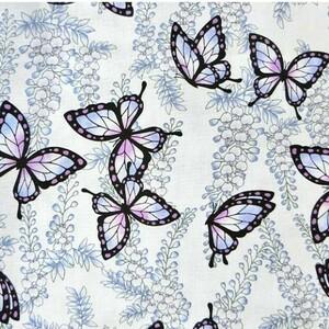 鬼滅の刃。胡蝶しのぶ生地、蝶の舞。ラベンダー