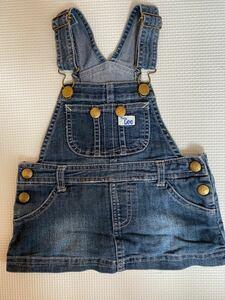 80サイズ Lee ジャンパースカート