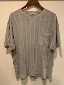 《送料込み》Y's for living ワイズフォーリビング ポケット Tシャツ 半袖 Yohji Yamamoto ヨウジヤマモト モード グレー メンズ