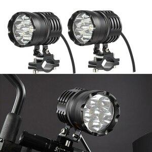 最2個80ワット6000LM 6500 18K T6 LEDバイク ボートスポット駆動ヘッドライトバイクフォグランプヘッドライトランプとスイッチ
