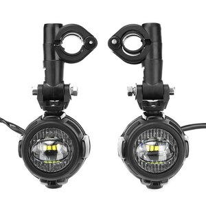 FADUIESペア汎用 バイク LED補助フォグライトASSEMBLIE運転ランプ40ワットLEDヘッドライト用BMW K1600 R1200GS ADV