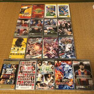 PSPソフトまとめ スポーツ ファンタシースター メタルギア 他 セット 17本