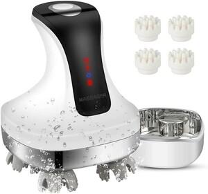 電動頭皮ブラシ IPX7防水 乾湿両用 USB充電台座 電動ブラシ