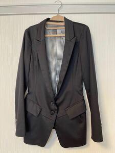 テーラードジャケット 黒 レディースジャケット ブラックジャケット
