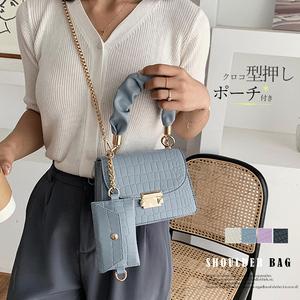 クロコダイル型押し レディース ミニ 2wayハンドバッグ 高みえ チェーンバッグ 韓国 斜めがけバッグ 鞄 かばんカバン