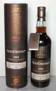 【限定品】 グレンドロナック 1994 19年 PX(ペドロヒメネス)シェリーパンチョン 700ml 53.1度 箱付き 正規品 GLENDRONACH