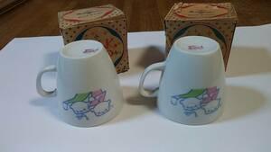 エラー刻印?2個セット シキシマパン ミルクカップ アンティーク ビンテージ 昭和レトロ 非売品 未使用 保管品マグカップ食器 古民家 陶器
