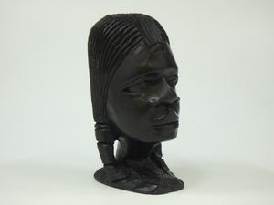 h1E130Z- 木彫り 女性像 彫刻 人形 置物 オブジェ