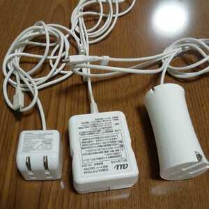 共通ACアダプタ04 スマホ タブレット 携帯電話 充電器  typeA SoftBank au【純正】 ELECOM
