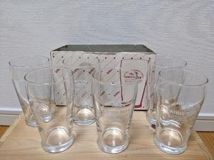 新品 未使用 昭和 レトロ ★ キリンビール KIRIN BEER 麒麟 ビール ミニ グラス コップ 6個セット★ ポイント消化 クーポン (個数3有り)
