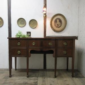 イギリス アンティーク 家具 サイドボード キャビネット 食器棚 飾り棚 収納 木製 マホガニー 英国 SIDEBOARD 6890b