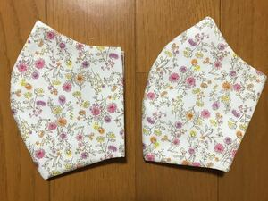 立体インナー ハンドメイド 花柄2枚