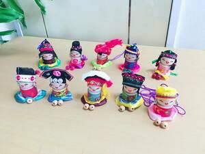 アジア民族人形 手作り 10個セット