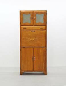 ◆ヴィンテージ クラシカル キッチン キャビネット 収納 食器棚 書棚 本棚/アンティーク英国イギリスフランスアメリカKET04014◆