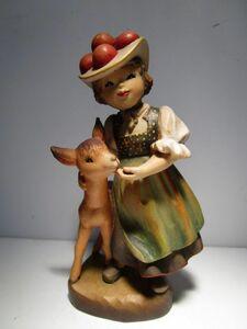 3000体限定製作品 イタリア ANRI 木彫りアンリ人形 Juan Ferrandiz作 ' Black Forest Girl' 15cmH