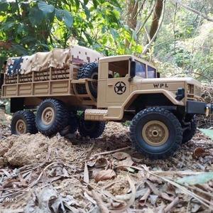 s1748 Rcトラックリモートコントロール車両軍事トランスポーターオフロードモンスター6WD戦術2.4グラムロッククローラー
