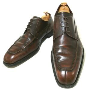 C189【REGAL】リーガル Uチップ ダークブラウン 茶色 25.0cm メンズ 本革 革靴 ビジネスシューズ 紳士靴 外羽根 レザー 日本製