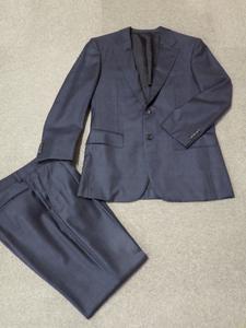 57【S.R】毛 BURBERRY LONDON バーバリー ロンドン 秋冬 シングルスーツ スーツ メンズ ダークグレー M 香川発