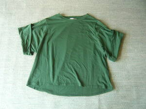 5分袖シャツ  グリーン