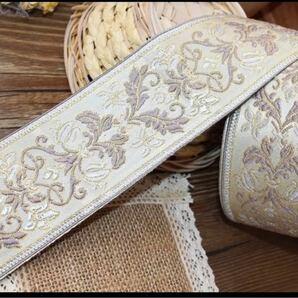 ジャガード織リボンNo.002 6cm幅/50cm単位