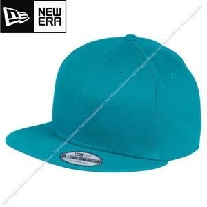 フNE400新品NEW ERAニューエラ9FIFTYベースボール キャップ シャーク ティール帽子ハット無地ブランク プレイン カスタム スナップ バック