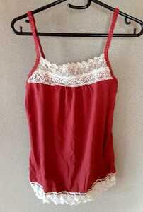 ARROW アロー a.r.w キャミソールM キャミ 赤 レッド レース 洋服 レディース 服